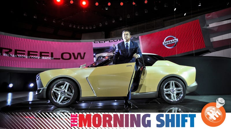 Ghosn with the wonderful IDx concept that Nissan did not put into production. Pictured in 2013.