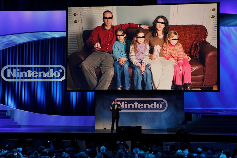 Nintendo of America boss Reggie Fils-Aime presents at E3 2010. (AP Photo/Damian Dovarganes)