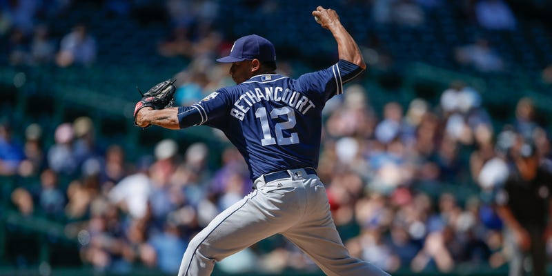 Illustration for article titled Padres Catcher Christian Bethancourt Made The Most Of His Chance To Pitch