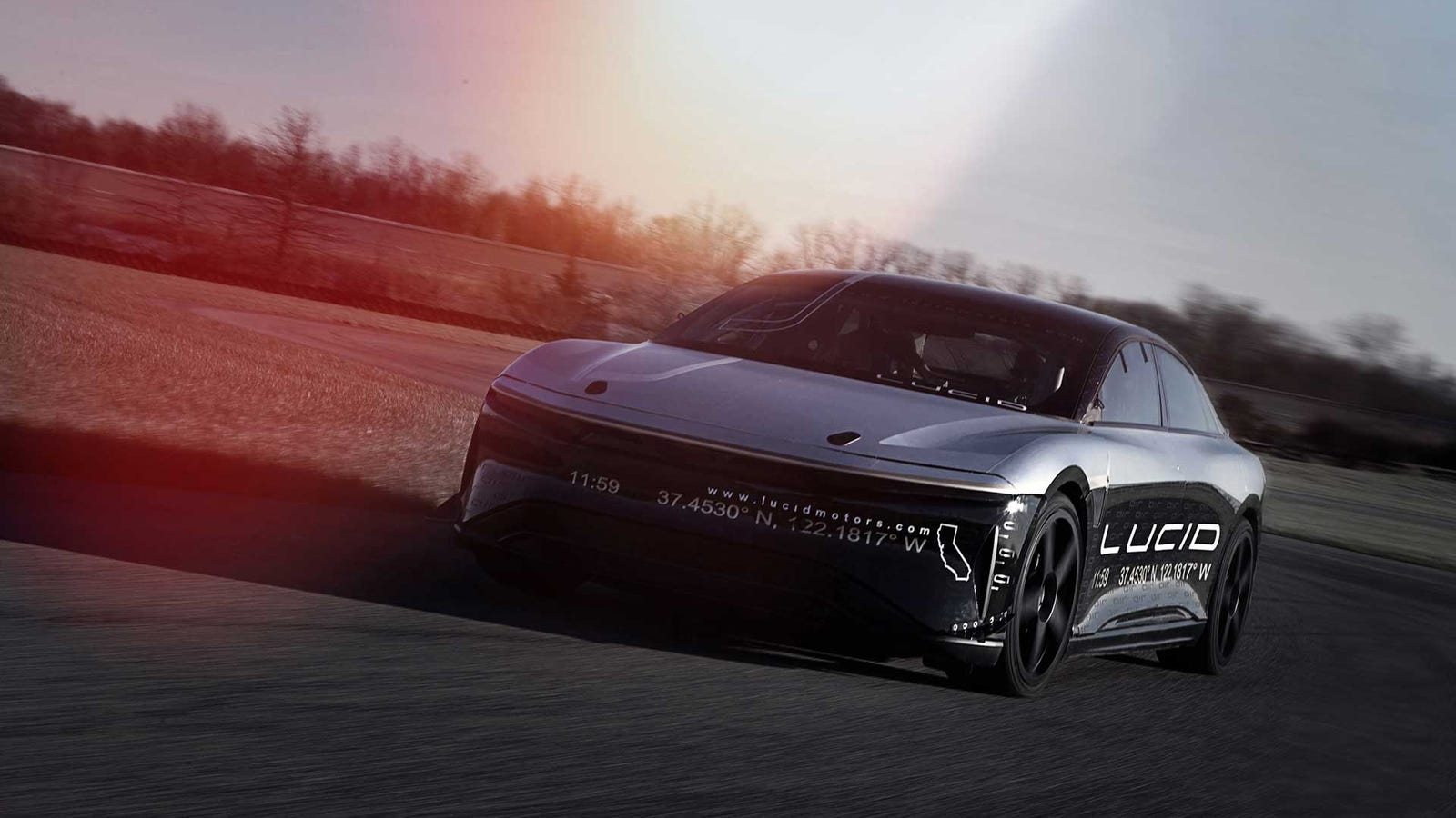 Here's A Video Of A Lucid Air Prototype Going 217 MPH
