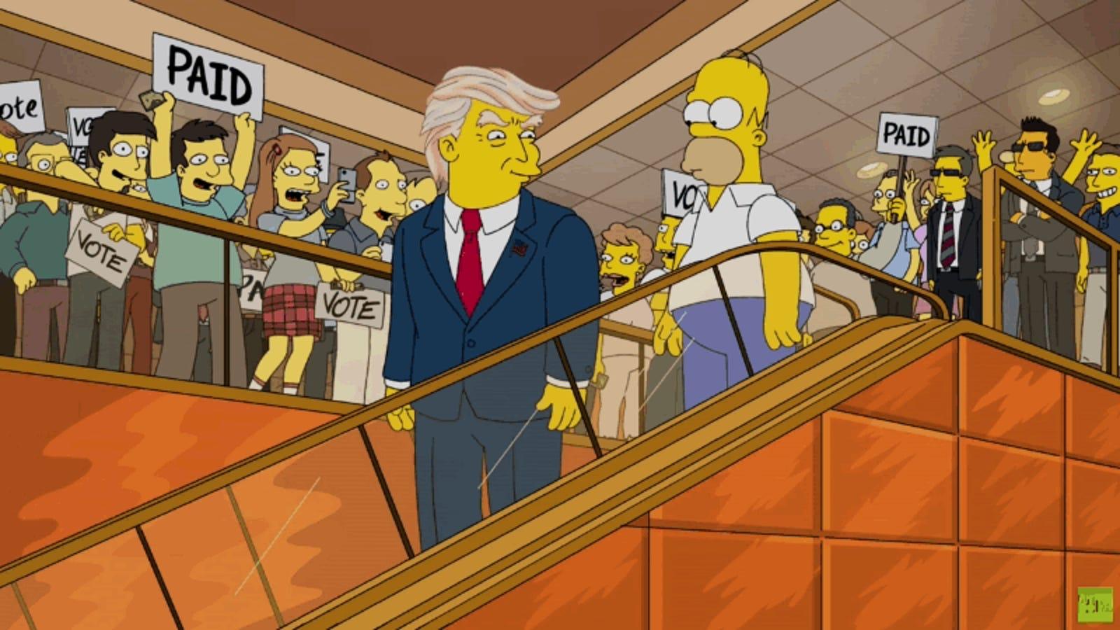 No, los Simpson no predijeron la victoria de Donald Trump en esta escena viral