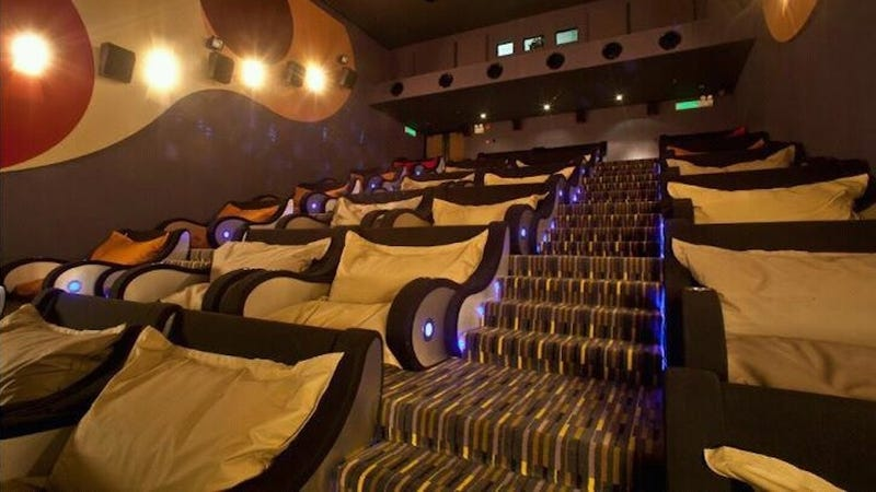Illustration for article titled Super Comfy Movie-Theater Seating That You Can Fall Asleep In