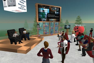 Illustration for article titled Second Life Embraces Corporate America, But Is It Mutual?