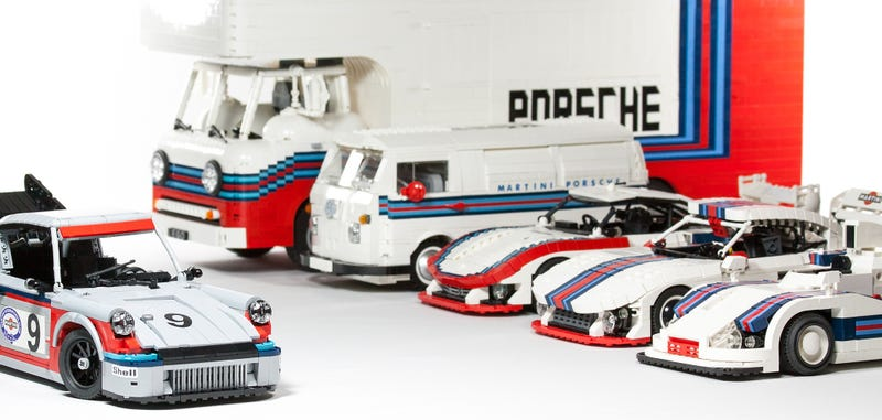 Illustration for article titled Lego Has To Build This Amazing Martini Porsche Racing Set