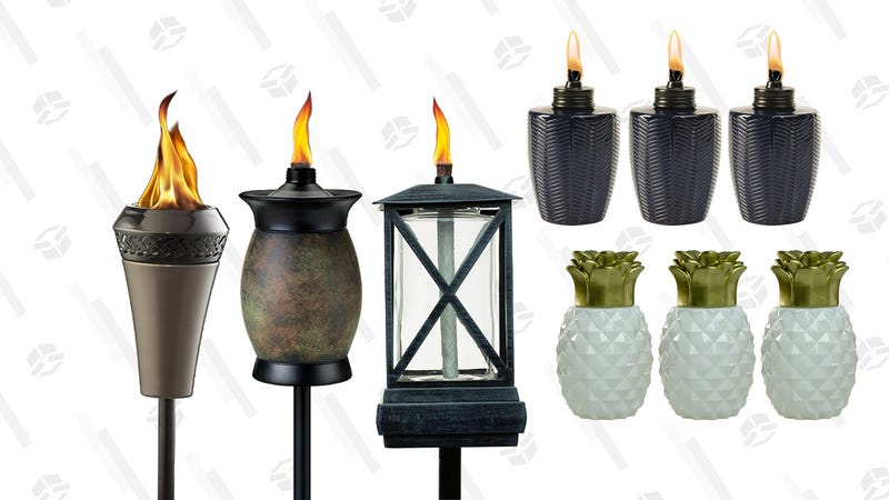 Patio Torches and Fuel Gold Box | Amazon