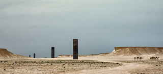 Illustration for article titled These Mysterious Desert Monoliths Are Actually Richard Serra Sculptures