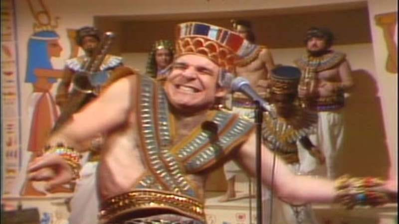 "Steve Martin performing ""King Tut"" on Saturday Night Live"