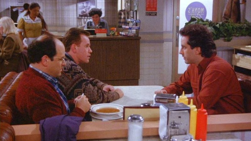 """George, Bania, and Jerry in the Seinfeld episode """"The Soup"""""""