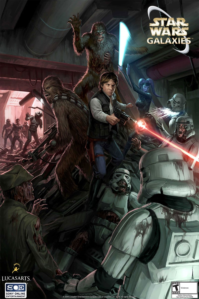 Illustration for article titled Six Years Too Late, Star Wars Galaxies Gets Interesting
