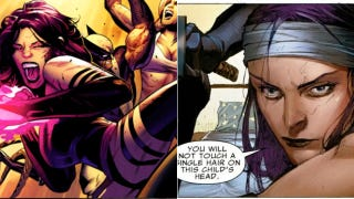 Illustration for article titled Art and Superheroines: Psylocke as Drawn by Greg Land vs. Jerome Opena