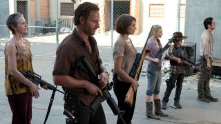 Illustration for article titled Andrea gets a less-than-happy reunion with Rick in The Walking Dead