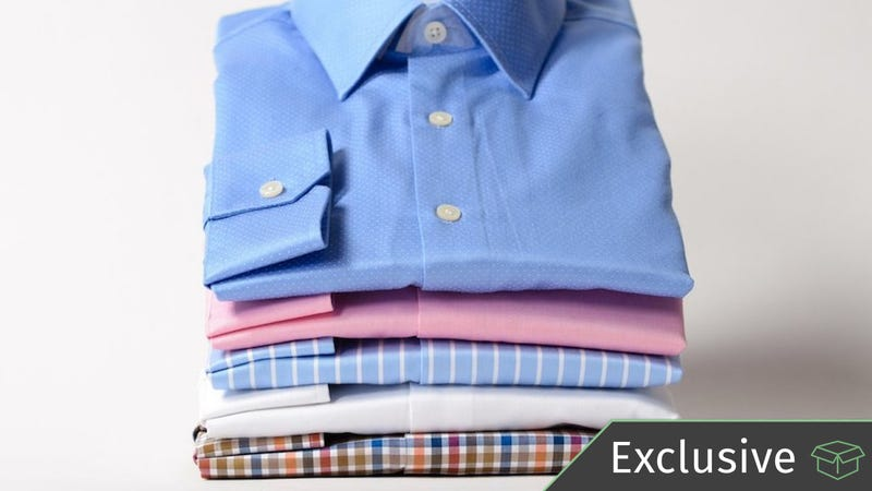 Newbury Mills Shirts, 3 for $99 with promo code kinja330. All additional shirts $33 each.