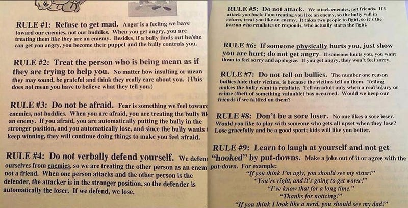 Illustration for article titled Nebraska School Gives Most Idiotic Advice Ever to Deal with Bullies