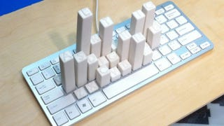 Illustration for article titled Why This Keyboard Forms a Skyline