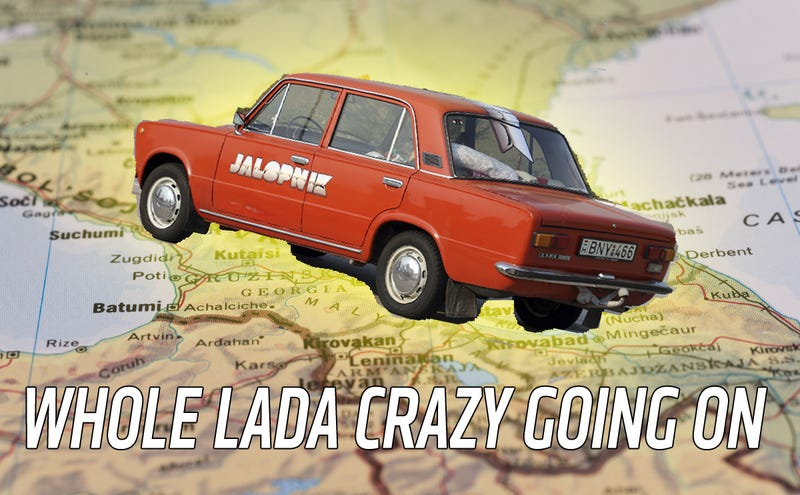 Illustration for article titled We Might Be Crazy Because We're Taking Our Lada On A 3,500 Mile Trip To Asia