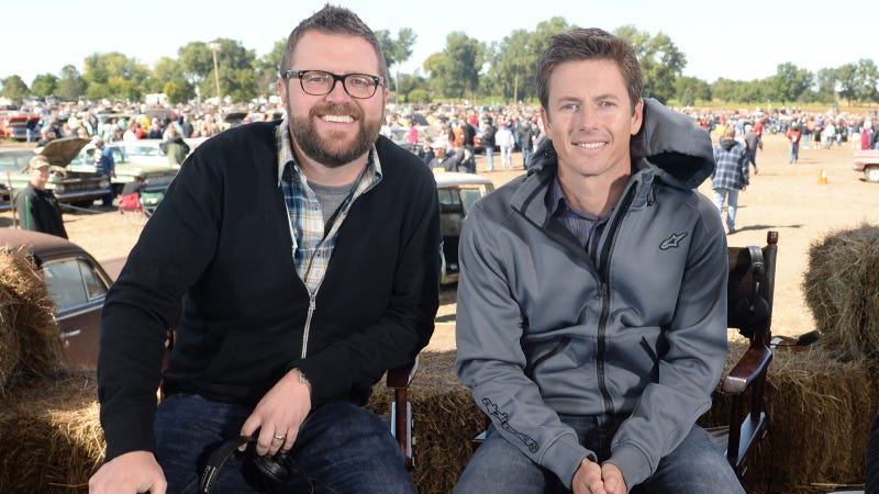 Illustration for article titled Tanner Foust & Rutledge Wood Talk Top Gear And Plaid Shirts