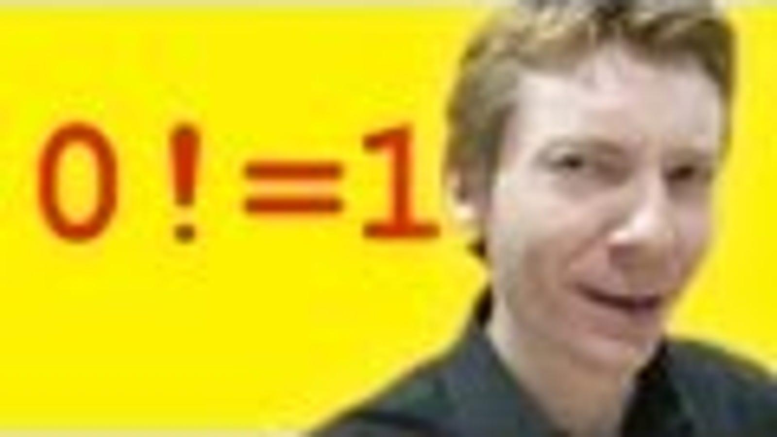 """Inside the Weird Mathematical Mystery of """"0!"""""""