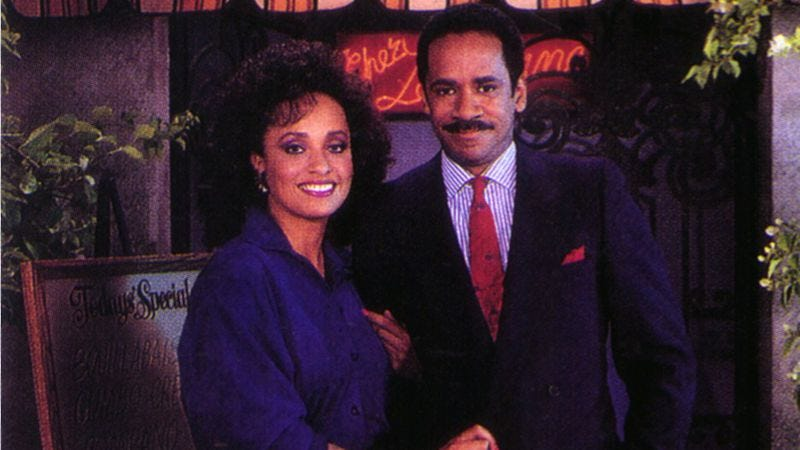 Daphne Maxwell Reid and Tim Reid outside The Chez