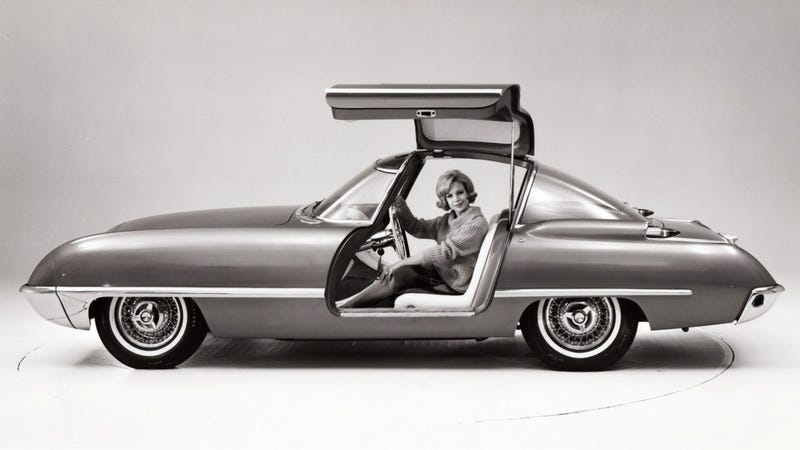 Illustration for article titled Ford Built A Gullwing Sports Car In 1962