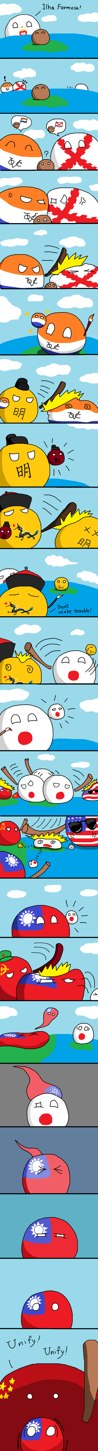 Illustration for article titled Daily Polandball: History of Taiwan.