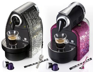 Illustration for article titled Nespresso Limited Edition Essenza Espresso Maker, Spangled with Swarovski