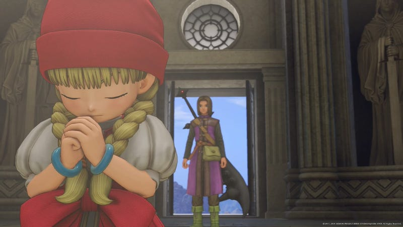 Illustration for article titled The Difficult Dilemma Of Dragon Quest XI's Post Credit Sequence