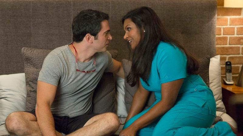 """Illustration for article titled The Mindy Project: """"We're A Couple Now, Haters!"""""""