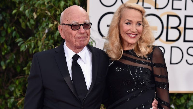 Illustration for article titled Rupert Murdoch and Jerry Hall Are In Love and Getting Married