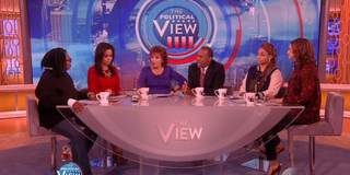 The View hosts and Ben Carson.Video Screenshot
