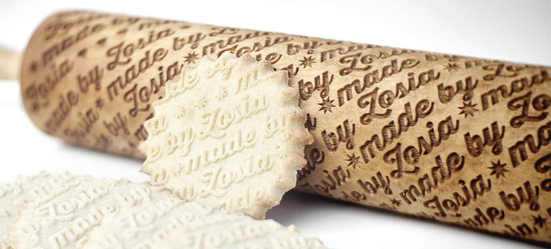 Illustration for article titled Embossed Rolling Pins Let Bakers Sign Their Creations