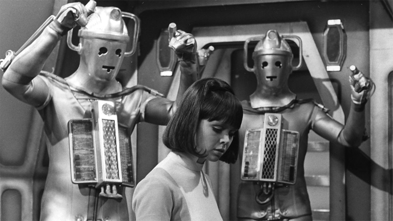 The Cybermen prepare to menace poor Zoe in her debut story.