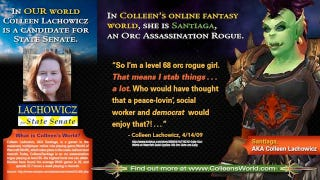 Illustration for article titled Maine Democrat is Supposedly Unfit For Office Because She Loves 'Poisoning and Stabbing' in World of Warcraft