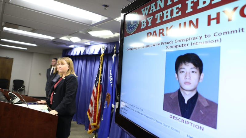 Illustration for article titled DOJ formally accuses North Korean programmer of conducting the big Sony hack