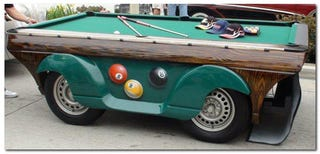 Illustration for article titled Pool Table Car Gallery