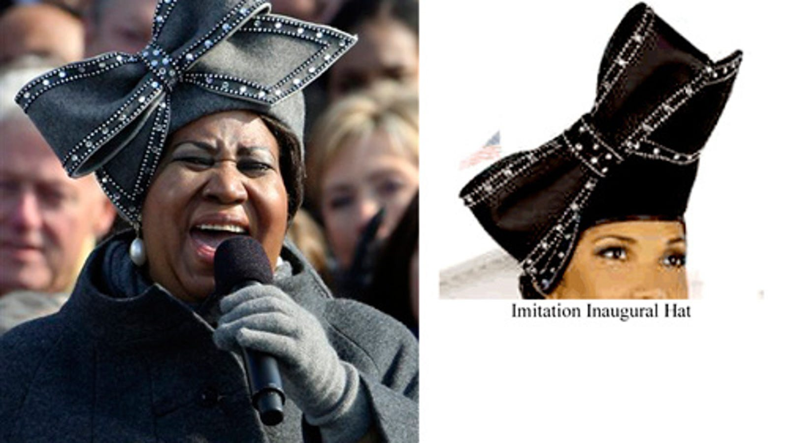 a1a77f45fff Aretha s Inauguration Hat  Makers Of Knock-Offs To Be Sued