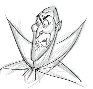 Illustration for article titled Hotel Transylvania Dracula Concept Art