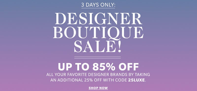 Extra 25% off with code 25LUXE