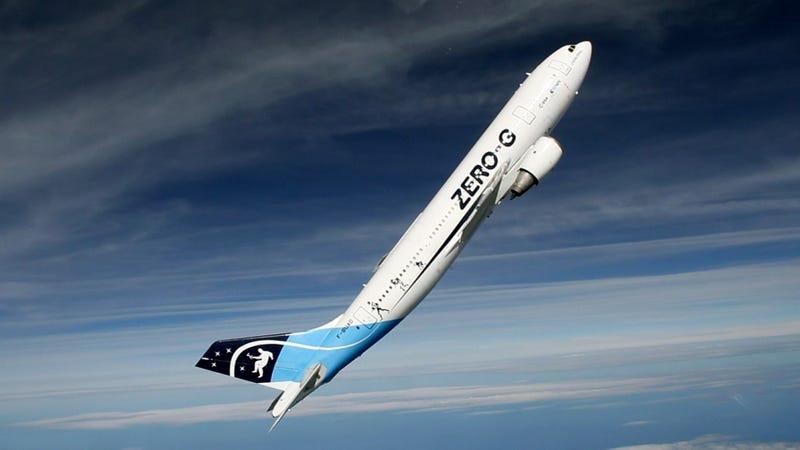 Iniciando la subida de un vuelo parabólico. Foto: Air Zero G