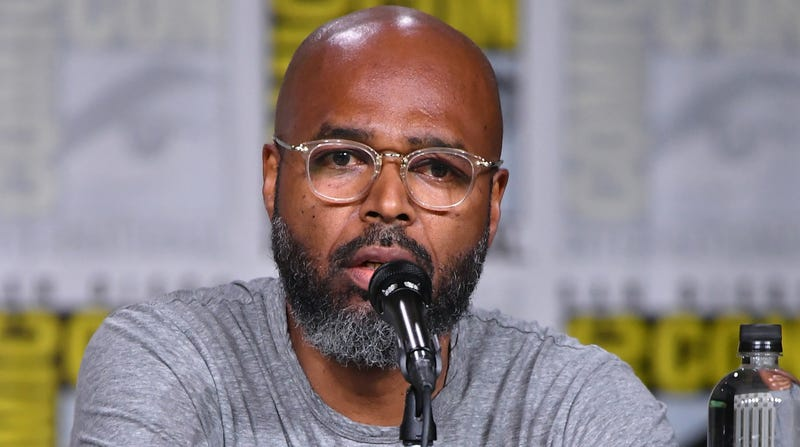 Salim Akil speaks onstage at the 'Black Lightning' Special Video Presentation and Q&A during Comic-Con International 2018  on July 21, 2018 in San Diego, California.