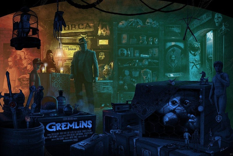 Illustration for article titled Help Find All the Easter Eggs in This Fantastic GREMLINS Poster