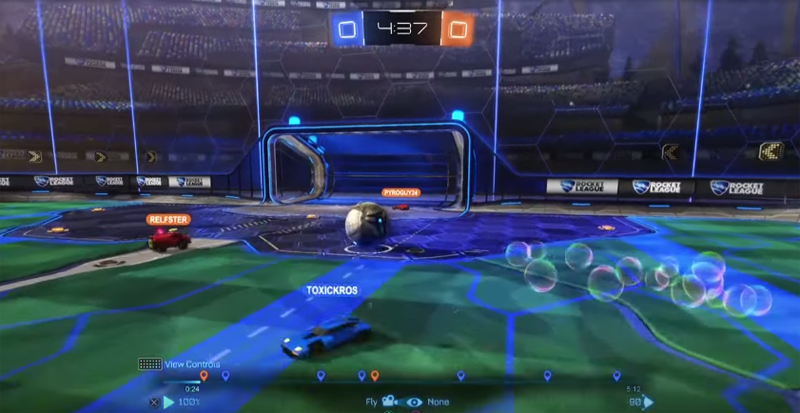 Illustration for article titled Rocket League Goal Is Painful To Watch