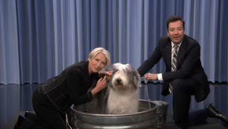 Dame Emma Thompson, very good dog, Jimmy Fallon