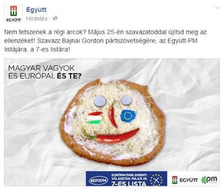 Illustration for article titled Retkes lángossal azonosítja a magyarokat Bajnai Gordon