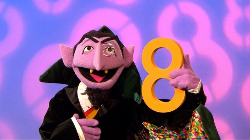 The Count from 'Sesame Street'