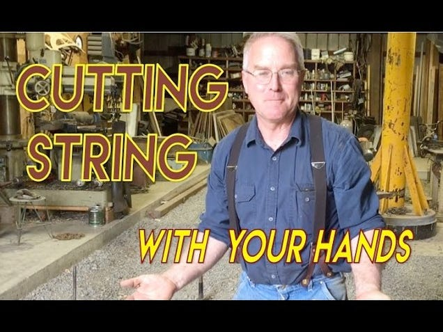 Cut Thick String With Your Bare Hands