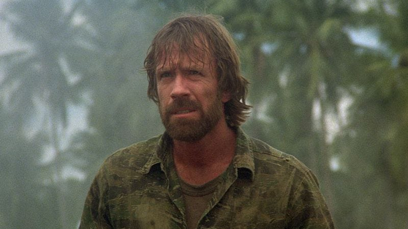 Illustration for article titled Chuck Norris defeats the Viet Cong, one steely stare at a time
