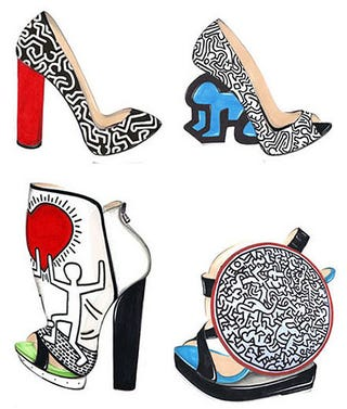 Illustration for article titled Nicholas Kirkwood's New Shoe Designs Honor The Late Keith Haring
