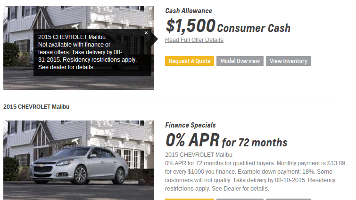 0 Apr Car >> Do The Math Before Taking That No Interest Auto Loan