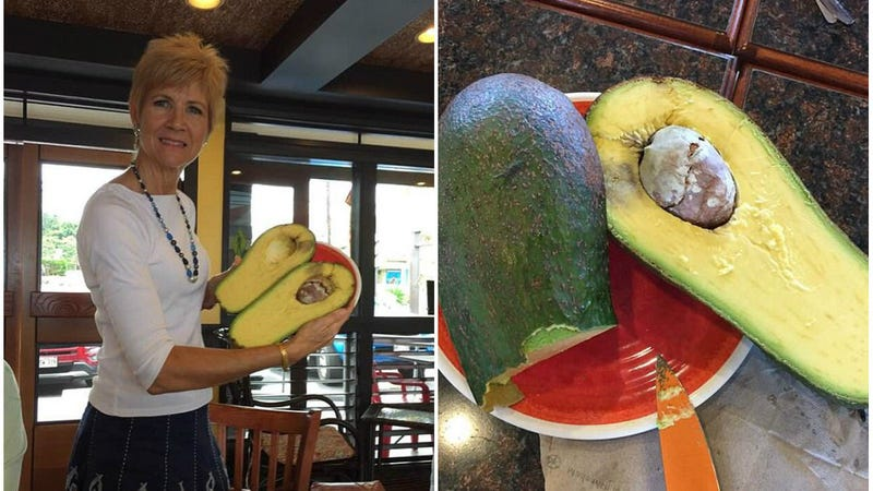 Pamela Wang and her avocado baby. (Photos: Pamela Wang/Facebook )