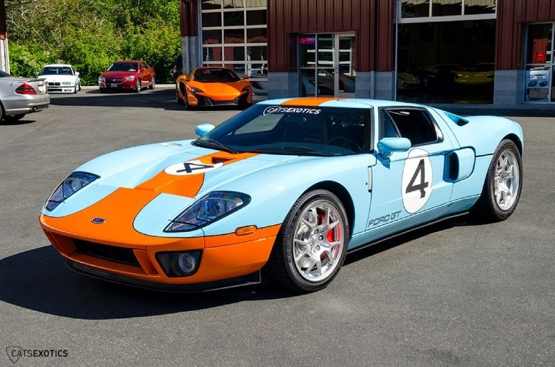 Illustration for article titled I just saw either a Ford GT Heritage Coupe or a very good replica